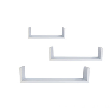 Cheap HomeWares Set of 3 Wall Floating U Shelves, White
