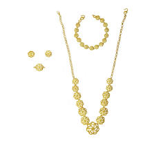 Flower Themed Jewelry Set For Women