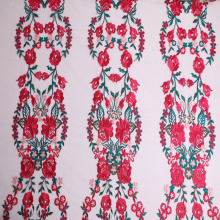 Online Exporter for China Embroidered Fabric For Dresses,Embroidered Bridal Fabric,Inflorescence Cord Lace Embroidery Fabric Manufacturer Elegant Bridal Dress Multicolor Tulle Flower Embroidery supply to South Korea Factory