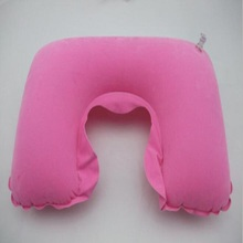 Air breathable car neck rest pillow inflatable