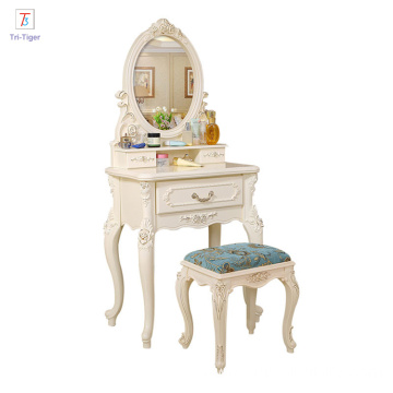 Caoxian designs soild wood dresser table bedroom furniture mirrored dresser