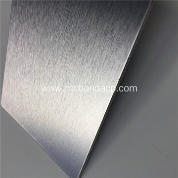 Silver Brushed Metal Plastic Composite Panel