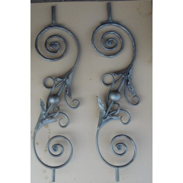 High Quality for Hand Forged Steel Balusters, newel posts, rosettes, gate handles, gate lock plate, balls, basket, grapes etc. Forged Wrought Iron Fence Pickets export to Sierra Leone Factory
