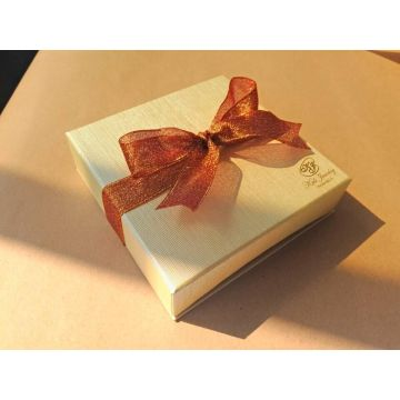 Luxury Hot Stamping Jewelry Gift Box with Bowknot
