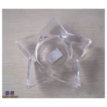 Glass Star Pattern Tealight Holder