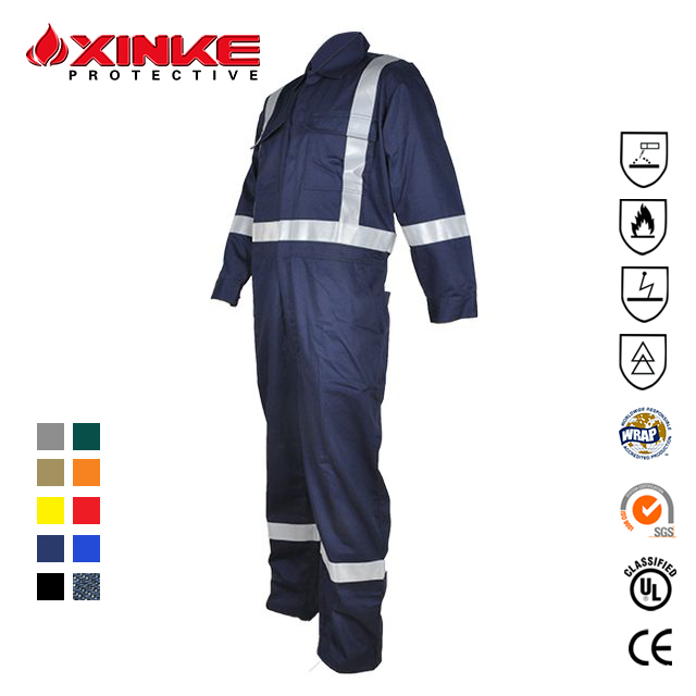 FR Industrial Reflective Work Wear Safety Clothing Coveralls