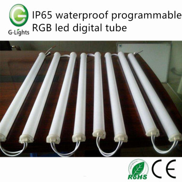IP65 waterproof programmable RGB led digital tube
