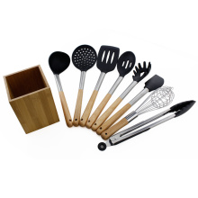 Professional for Silicone Cooking Utensils Tool Set 9pcs silicone kitchen utensils set supply to Netherlands Supplier
