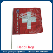 Custom Hand Waving Flags with Solid Flagpole