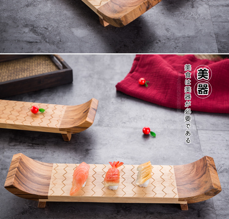 rubber wood strong durable wooden plate