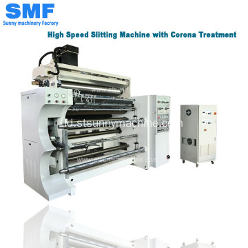 Mesin slitting film dengan Corona Treatment GFTW-1500C