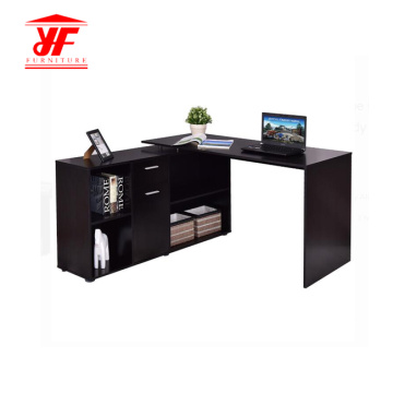 Black Adjustable Wooden Computer Table Furniture