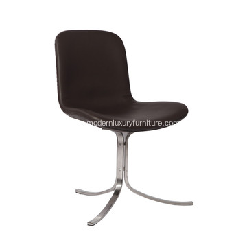 Poul Kjaerholm PK9 Leather Side Chair