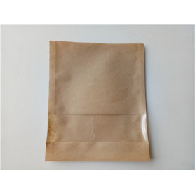 Paper & PLA  Flat Biodegradable Packaging Bag