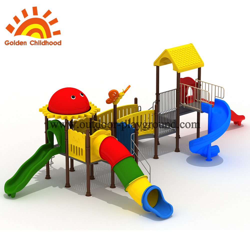 Double slide material for playground