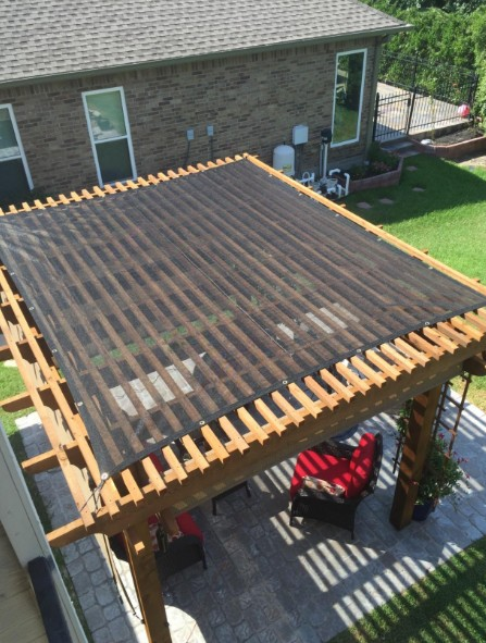 mesh tarp as patio cover