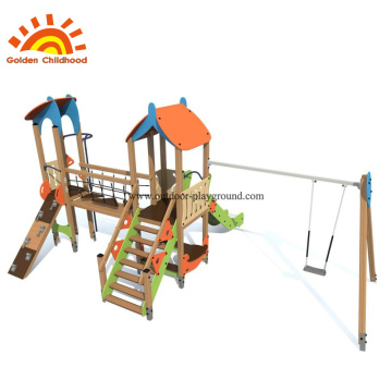 HPL Climbing Panel Equipment With Swing