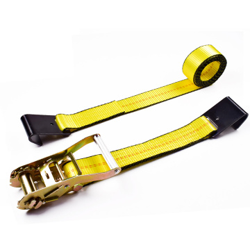 "2"" 5T 50mm Middle Aluminum Handle Ratchet Buckle Straps Tensioner With 2 Inch Flat Hooks"