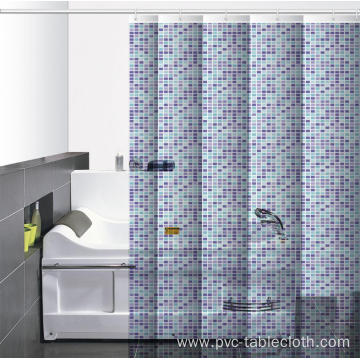 Waterproof Bathroom printed Shower Curtain 3d Model Free