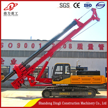 Pile rig for shallow building foundation engineering