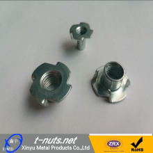 China for Carbon Steel T Nuts Four Claws  T  Nuts supply to Swaziland Manufacturer