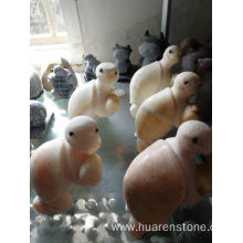 Hot sale for Stone Garden Owls Beige onyx tortoise carving supply to Portugal Manufacturer