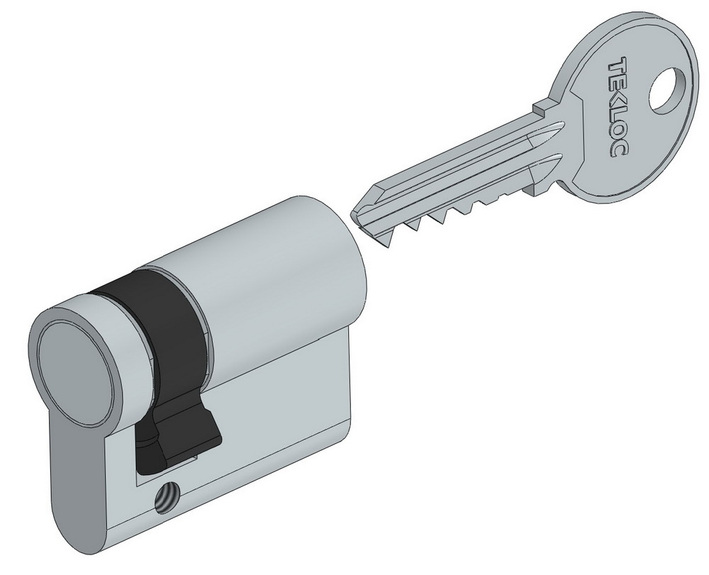 Half sided euro lock cylinder