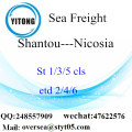 Shantou Port LCL Consolidation To Nicosia