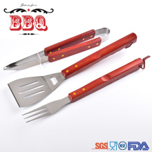 Amazon Hot-selling BBQ Tools Grilling Wooden Handle