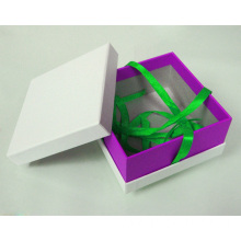 Custom Printing  Rigid Paper Box With Ribbon