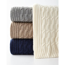 Europe style for Baby Cashmere Blanket Seed-Stitch Cable Throw supply to Svalbard and Jan Mayen Islands Manufacturers