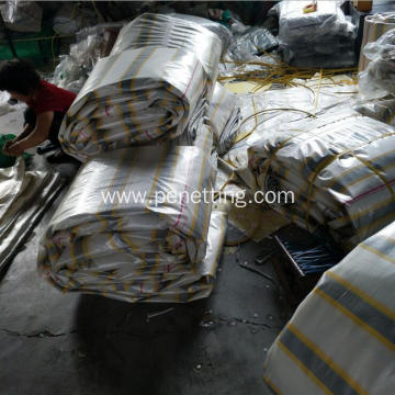 Customized Stripe PE Tarpaulin for Building