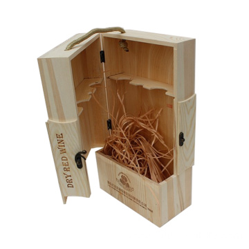 Engraving packaging small wooden wine Packed Wine Box wholesale