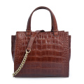 Fashion Brands Crocodile Leather Lady Tote Single Handbag