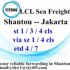 ODM for China Sea Freight LCL Transport, LCL Consolidators | Shipments Services. Shantou to Jakarta LCL Consolidate by Sea export to Armenia Manufacturer