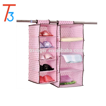4 Shelf Non Woven Hanging Closet Organizer Wholesale /Hanging clothing Organizer