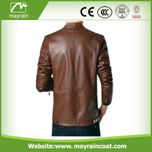 2017 Autumn Jackets Coats PU Brown Leather Jackets