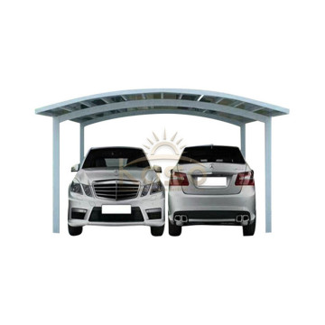Double Two Car Polycarbonate Roof Aluminium Carport Garage