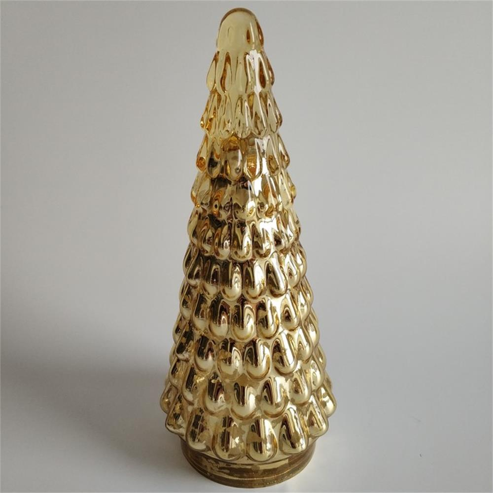 Br H 1181 3golden Christmas Tree Shaped Decorations
