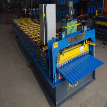Aluminium roofing sheet corrugating machine
