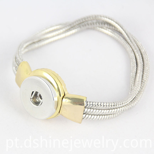 Snake Chain Noosa Button Bracelet