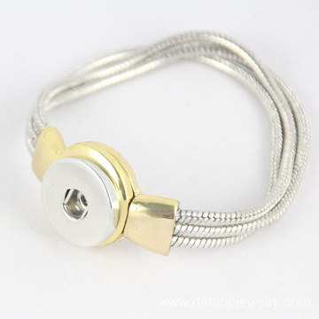 Snake Chain Noosa Button Bracelet DIY Snap Bangle For Women