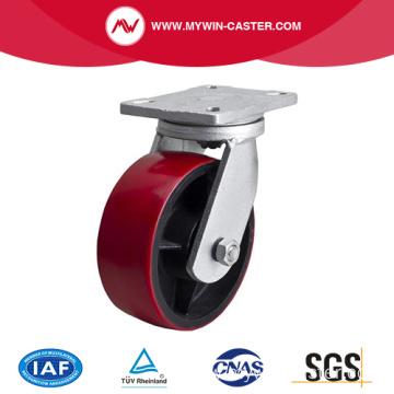 Extra Heavy 8 Inch 1400kg Plate Swivel TPU Caster