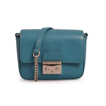 Aquamarine Leather Phone Small Purse Women Crossbody
