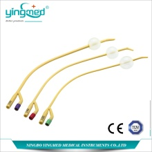 Goods high definition for Disposable Nelaton Catheter 2-Way Curving End Latex Foley catheter supply to East Timor Manufacturers