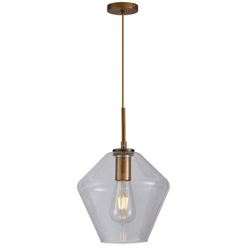Industrial Hanging Lamp Vintage Clear Glass Pendant Light