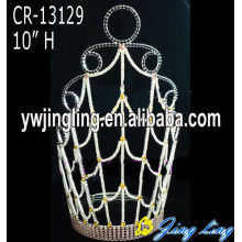 "Leading for Gold Pageant Crowns and Tiaras, Sunflower Crown, Rhinestone Pageant Crowns. 10"" Wholesale rhinestone crowns and tiaras for pageant supply to Hungary Factory"