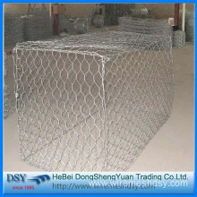 hexagonal gabion box for flood control