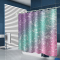 Ombre Shimmer Background Waterproof Shower Curtain Shining Bathroom Decor