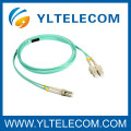 SC Duplex OM3 Fiber Optic Patch Cord , Armoured Fiber Patch Cord